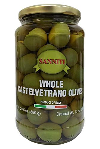 Sanniti Whole Castelvetrano Olives - 20.5 Ounce Jar