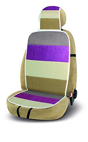 Bottari 12314: Auto Premium stoel Kussen Honolulu in Linnen en Katoen, Multi kleuren, Beige, Grijs, Violet
