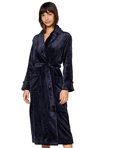 Amazon-Marke: Iris & Lilly Damen Long Plush Dressing Gown, Blau (Blau), S, Label: S