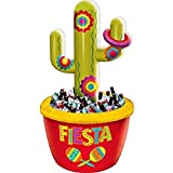 amscan 397845 Cinco De Mayo Green Red Cactus Inflatable Plastic Cooler 1 Piece Party Decoration