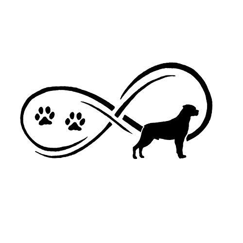 17.8 * 8.9CM Rottweiler Dog Paw Fashion Personality Animal Window Decorative Decals Motorcycle Car Sticker C6-1006