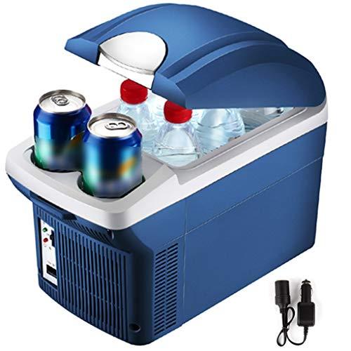 Mini frigoriferi Mini Frigo Portatile,Frigorifero per Auto 12V 24V,Frigorifero A Doppio Scopo Freddo Caldo A Risparmio Energetico,per Campeggio,Auto,Pesca,All aperto (Color : Blue, Size : 8L 24V)