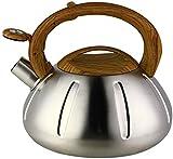 Bollitore di flauto, bollitore in acciaio inossidabile, bollitore elettrico per stufa, lavaggio del tè con flauto, caldaia a gas un fischio in acciaio inox di rame per la stufa a legna camino,A,2.5L