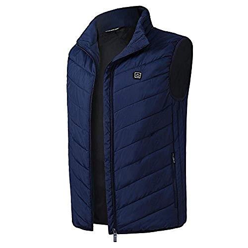 Elektrisch vest voor mannen en vrouwen, warm vest, warme kleding, buitenvest met USB-verwarming, winterjas The blauw
