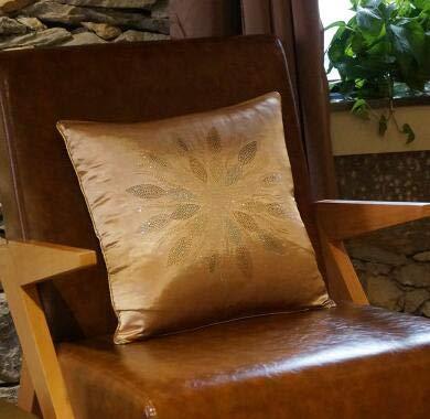 Black rhinestone Velvet pillow pillow cushion sofa cushions Car Cushion diamond - Purple,45x45cm
