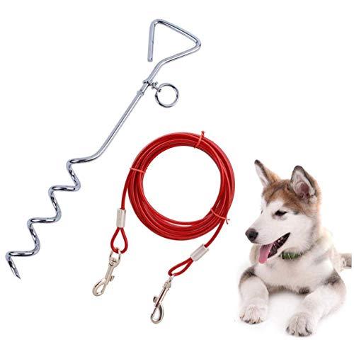 mianyang Hundepfosten-Kabelbinder für kleine, mittelgroße und große Hunde bis zu 31,8 kg, Erdpfosten, Höfe und Campingplätze