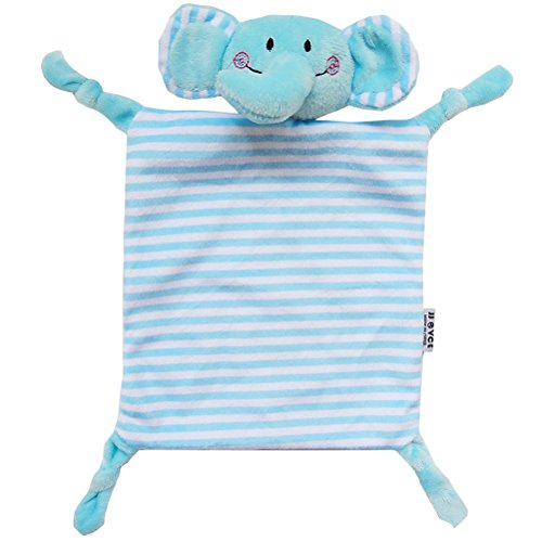 YeahiBaby Doudou per neonato Copertina sicurezza Neonati di Peluche Baby Comforter (Elefante Blu)