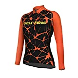 Uglyfrog Frühling/Herbst Damen Radfahren Kleidung Set Fahrrad Anzug Outdoor Langarmtrikot+ Bib Hose Atmungsaktiv Schnell Trocken (Trikots Wird separat verkauft)