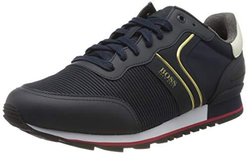 BOSS Herren Parkour_Runn_strb 10214663 01 Sneaker, Blau (Dark Blue 401), 43 EU