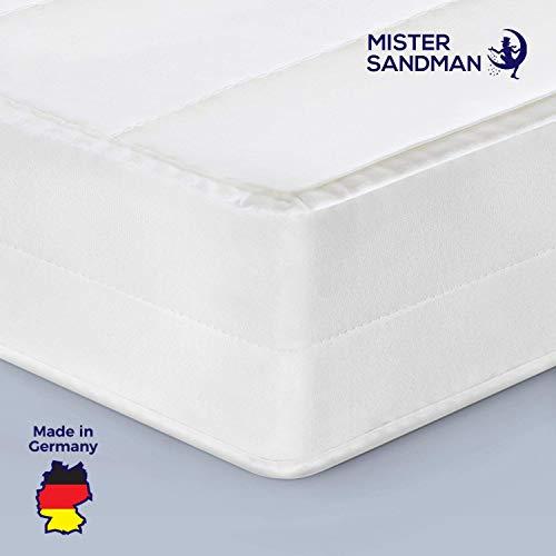 Mister Sandman Matratze, Härtegrad H2 H3, Komfortschaum Kern, Rollmatratze, ÖKO-TEX® waschbar (140 x 200 cm, Weiß)