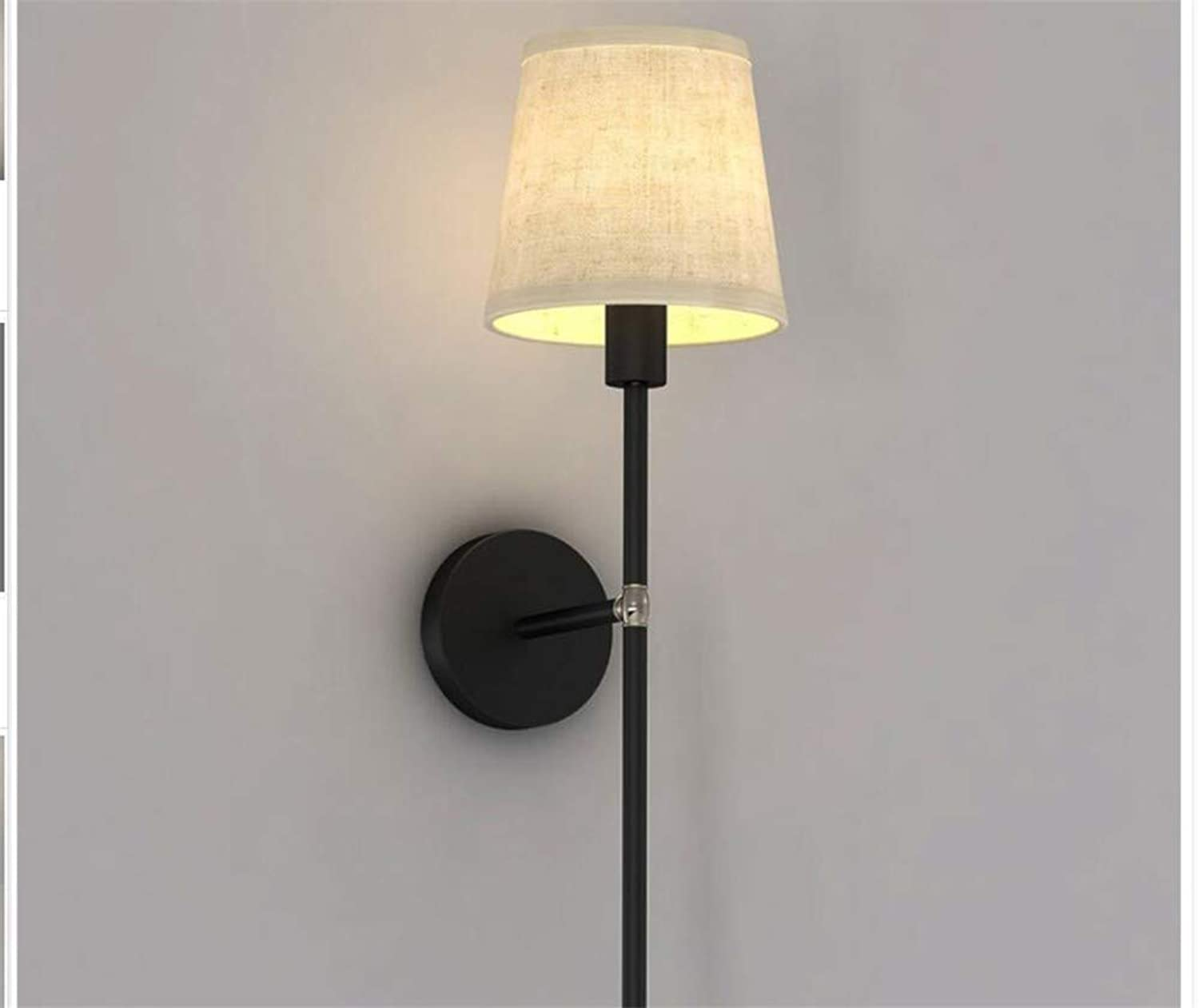 MTXLtd Wall Wash Lights Lamps Wall Lights Sconce Cloth American Iron Living Room Bedroom Creative Nordic Simple