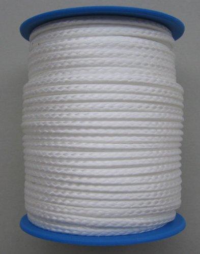Gepotex Dyneema Flechtschnur Seil Dyneemaseil Flechtleine aus Dyneema - Durchmesser 2.5mm - 25 Meter Fb. weiß