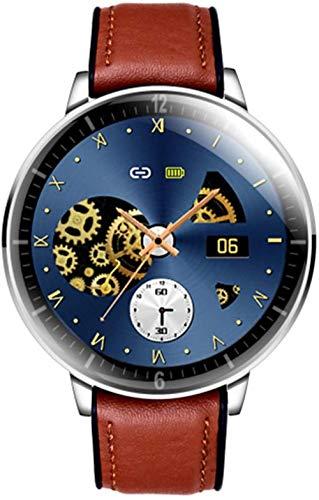 hwbq Fitness Tracker Deportes Reloj Inteligente 1.28 Pantalla Redonda Ultra-Delgado Smartwatch Sfigmomanómetro IP68 Impermeable-A