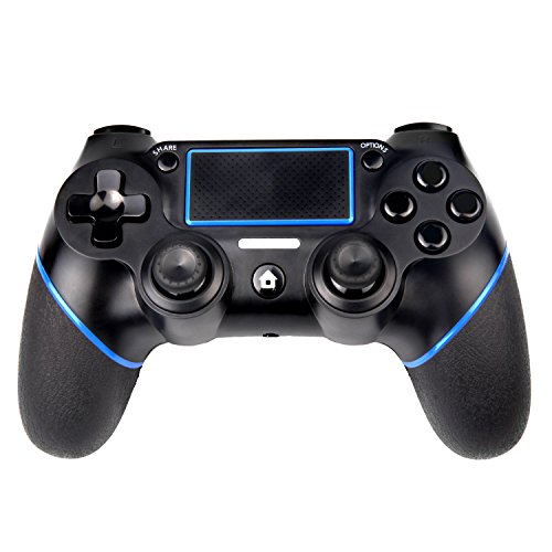 PS4 Controller Sades Controller wireless con doppia vibrazione e jack da 3,5 mm per Playstation 4