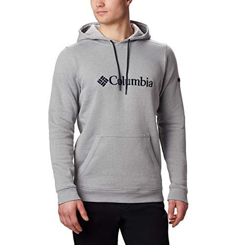 Columbia CSC Basic Logo II Sudadera con Capucha, Hombre, Gris Grey, Heather, S