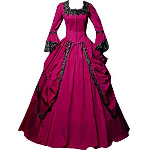 KEMAO Vestido victoriano rococó inspirador doncella vestido de baile vestido de mascarada - rojo - XX-Large