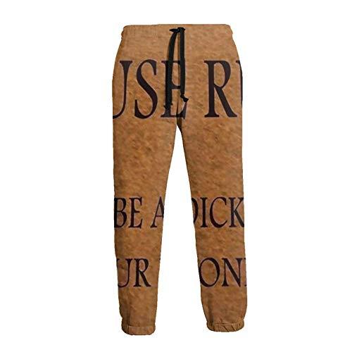 Reglas de la casa para Hombre Felpudo Jogger Pantalones Deportivos Pantalones Deportivos de Lana con Cintura elástica con cordón y Bolsillos