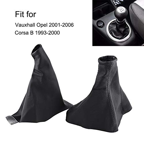 Black Leather-Black Thread RedlineGoods Shift Boot Compatible with Saab 9-3 2003-12