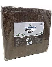 LOMBEC Fibra de Coco Bloque de 5KG (70L) - Ladrillo compactado de Fibra de Coco deshidratada (Peso Neto: 5KG) - Medio de Cultivo Ideal para huertos urbanos