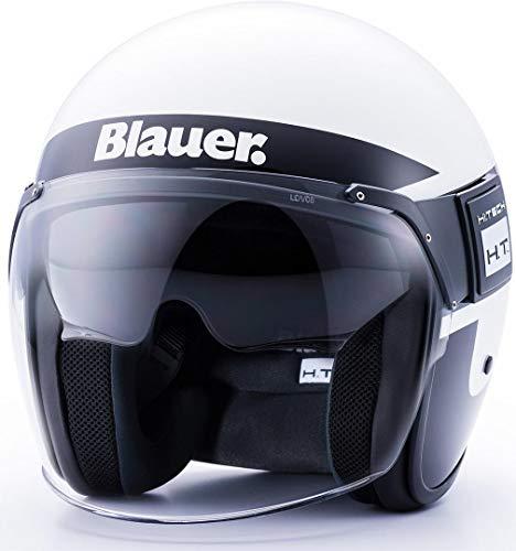 Blauer HT Casque Pod Stripes white-black-titanium Glossy s