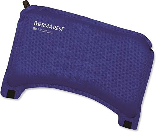 Therm-a-Rest Self-Inflating Travel Cushion for Comfort and Lumbar Support on Airplanes Blue, One Size