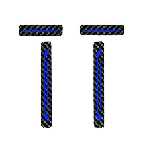 Einstiegsleiste Schutz Aufkleber Reflektierende Lackschutzfolie für Citigo Kodiaq Fabia Rapid Octavia Yeti Superb Einstiegsleisten Blau 4 Stück