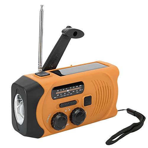 Radio solar de manivela, radio meteorológica AM / FM / WB, radios portátiles recargables de 2000 mah con linterna LED, alarma SOS para emergencias en el hogar y al aire libre(Frecuencia de la UE)
