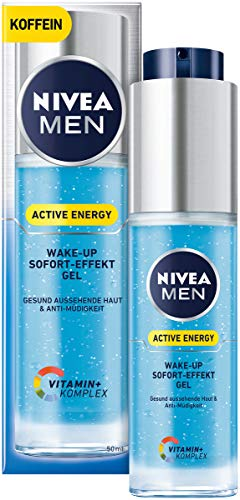 Nivea Men Active Energy Wake-up Sofort-Effekt Gel im 1er Pack (1 x 50 ml), vitalisierende Gesichtscreme für Männer, Feuchtigkeitscreme gegen Anzeichen von Müdigkeit
