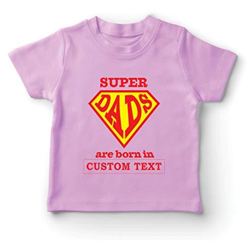 lepni.me Kinder Jungen/Mädchen T-Shirt Individuelles Geburtstagsgeschenk für Super-Väter, personalisierte Geschenkidee (14-15 Years Pink Mehrfarben)