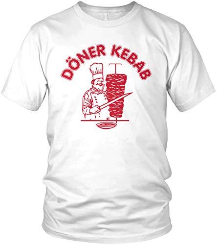 Original Döner Kebab Logo - Herren T-Shirt und Männer Tshirt, Größe:L, Farbe:Weiß