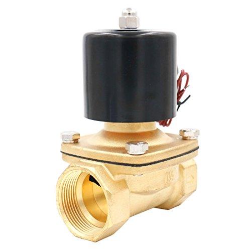 Heschen Elektrisches Magnetventil aus Messing, 1-1/2 Zoll, AC 220 V, direktes Wasser, normal geschlossenes Ersatzventil