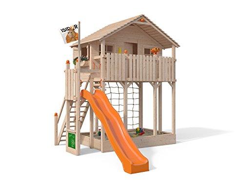 Parte Torre Bobby Big de Isidor sin Balancín Cultivo Incluye XXL tobogán Trepador, caja de arena y Aufstieg Escaleras en 2,00metros altura de Porche
