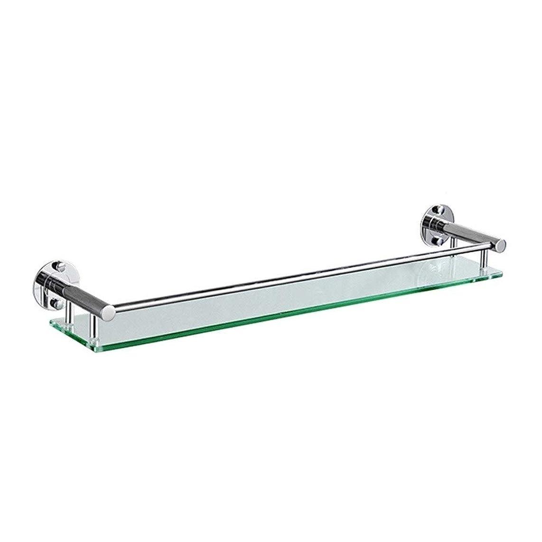 大腿に応じてホイップHPLL 浴室のガラス棚、304ステンレス鋼の浴室強化ガラスフレーム太い壁掛け単層バスルームの鏡の前枠 浴室用ガラスシェルフ (Size : 64cm)
