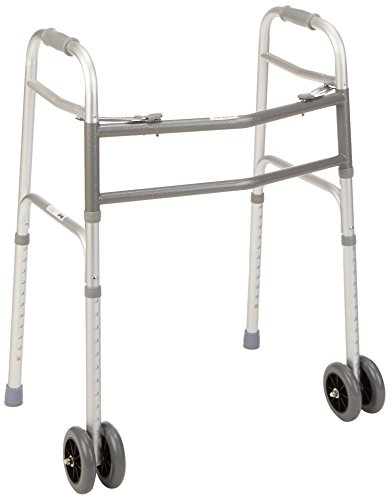 Days Bariatric Adjustable Walker with Double 5″ Wheels, 700 lb Weight Capacity, Extra Wide Rollator for Elderly & Handicapped, Heavy Duty with Dual Release Locking, Mobility Assist for Walking