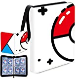 Trading Card Binder with Sleeves, 400 Pockets Zipper Binder Card Holder Collectors Album Folder Carrying Case with 50 Premium 8-Pocket Sheets Fit for TCG Baseball and Football Cards