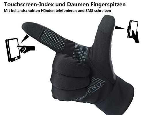 OZERO Touchscreen Winterhandschuhe, Thermo Fahrradhandschuhe & Laufhandschuhe für Herren und Damen - 3