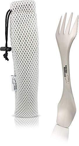 OUTDOOR FREAKZ Titan Spork und Göffel als Campingbesteck und Reisebesteck die perfekte Messer-Gabel-Löffel-Kombi für Outdoor Fans
