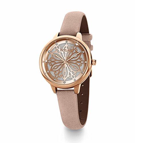 NOELANI Damen Analog Quarz Uhr mit Lederimitat Armband 2020940