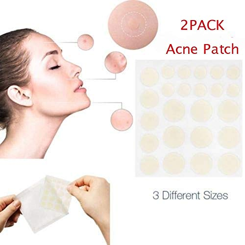 Ownest 2 PACK Acne Patch Set,24H ACNE & SKIN TAGS REMOVER SET (48 PCS) Acne Pimple Master Acne & Scar Treatment-Three Size