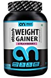Abbzorb Nutrition Weight Gainer with Digestive Enzymes (Strawberry, 1 Kg)