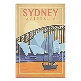 ZHBIN Australien Vintage Reise Poster Sydney Opernhaus