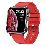 ZGNB E86 Reloj inteligente para mujer, temperatura corporal, ritmo respiratorio, oxígeno en sangre, ECG, frecuencia cardíaca, presión arterial, reloj deportivo con podómetro, reloj deportivo (A)