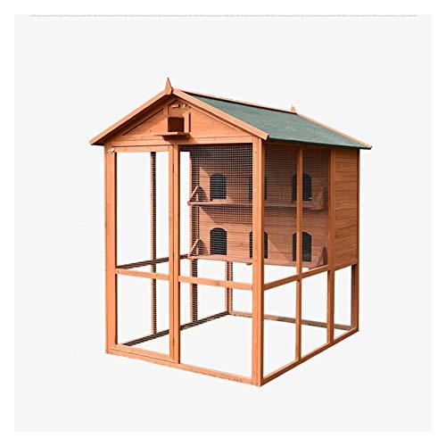 Hong Yi Fei-Shop Jaula Pájaros Gran Casa De Paloma Al Aire Libre Cobertizo Jaula De Pájaros Gran Terraza Jardín Villa Jaula