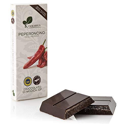 Ciokarrua Cioccolato di Modica al Peperoncino Senza Glutine & Senza Lattosio - 1 x 100 Grammi