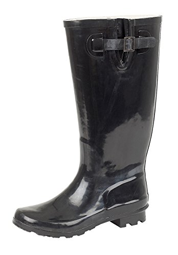 LD Outlet, Stivali donna, Nero (black patent), 35.5