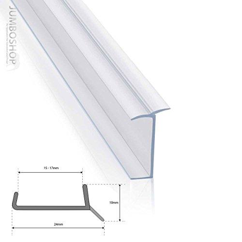 STEIGNER Küchenleiste Küchensockel DPD Abdichtungsprofil Sockel 15mm / 16mm / 17mm Dichtung erneuern 1,5m Dichtprofil TRANSPARENT