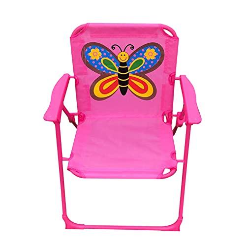 QKFON Cartoon-bedruckter, faltbarer Camping-Stuhl, leichter Kinderstuhl, Outdoor/Indoor Cartoon-Klappstuhl für Camping, Strand, Angeln, 37,8 x 27,9 x 49,6 cm