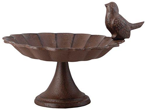 Esschert Design Vogeltränke Fuß Gußeisen 1 Vogel, 19 x 14 x 16, FB164