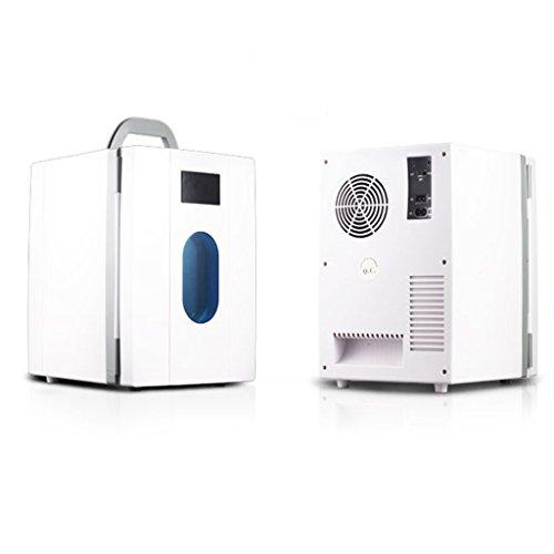 JCOCO 10L Car Refrigerator 12V220V Auto e casa Mini congelatore portatile Frigorifero refrigerato a doppio uso (colore : Bianca)