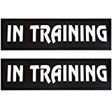Bolux Dog Vest Patches, 2 PCS Removable Patches for Dog Harness – Emotional Support/Service Dog/in Training/THAREPY Dog/DO NOT PET/Keep Going PU Dog Halter Patches